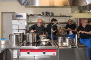 Küchenchef Mark Gerber mit seiner Crew.
